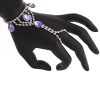 Hand Jewellery Drop Purple Aurora Borealis